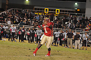 Lafayette High's Jeremy Liggins (1) passes vs. New Albany in Oxford, Miss. on Friday, October 14, 2011. ..