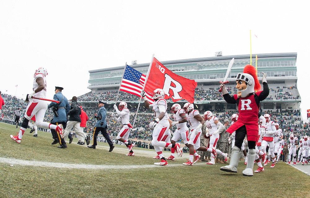 The Rutgers Scarlet Knights take on the Michigan State Spartans at Spartan Stadium on Saturday, November 22, 2014.<br />