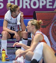 04-01-2016 TUR: European Olympic Qualification Tournament Nederland - Duitsland, Ankara <br /> De Nederlandse volleybalvrouwen hebben de eerste wedstrijd van het olympisch kwalificatietoernooi in Ankara niet kunnen winnen. Duitsland was met 3-2 te sterk (28-26, 22-25, 22-25, 25-20, 11-15) / Teleurstelling Maret Balkestein-Grothues #6