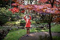 Den Haag , 11 oktober 2015 - Drukte in de Japanse tuin in het haagse Park Clingendael. De Japanse tuin is tot en met 25 oktober weer open om de bezoekers te kunnen laten genieten van de prachtige herfstkleuren.<br /> Foto: Phil Nijhuis