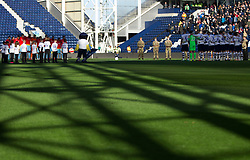 Preston North End and Rotherham United during a remembrance minute of silence - Mandatory by-line: Jack Phillips/JMP - 27/10/2018 - FOOTBALL - Deepdale - Preston, England - Preston North End v Rotherham United - English League Championship