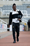 Newcastle United midfielder Christian Atsu (#30) arrives at St James's Park ahead of the EFL Sky Bet Championship match between Newcastle United and Barnsley at St. James's Park, Newcastle, England on 7 May 2017. Photo by Craig Doyle.