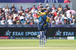 July 1, 2019 - Chester Le Street, County Durham, United Kingdom - Isuru Udana of Sri Lanka bowling during the ICC Cricket World Cup 2019 match between Sri Lanka and West Indies at Emirates Riverside, Chester le Street on Monday 1st July 2019. (Credit Image: © Mi News/NurPhoto via ZUMA Press)