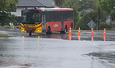 Christchurch-King tide causes surface flooding