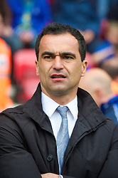 WIGAN, ENGLAND - Monday, May 3, 2010: Wigan Athletic's manager Roberto Martinez during the Premiership match against Hull City at DW Stadium. (Photo by David Rawcliffe/Propaganda)