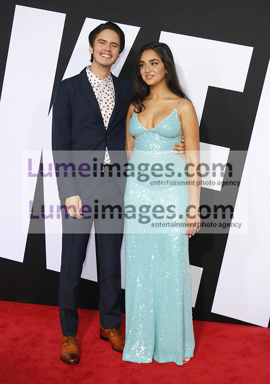 Geraldine Viswanathan and Miles Robbins at the Los Angeles premiere of 'Blockers' held at the Regency Village Theatre in Westwood, USA on April 3, 2018.