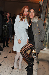 Left to right, ODESSA RAE and DIXIE CHASSAY at a private view to celebrate the opening of the Royal Academy's exhibition of work by David Hockney held at The Royal Academy, Burlington House, Piccadilly, London on 17th January 2012.