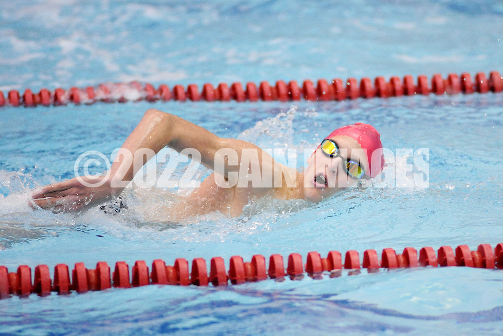 WARMINSTER, PA - DECEMBER 16: William Tennent's Will Clift competes in the 200 Freestyle during a swim meet at William Tennent December 16, 2014 in Warminster, Pennsylvania. Central Bucks South faced William Tennent in the boy and girl swim meet. (Photo by William Thomas Cain/Cain Images)