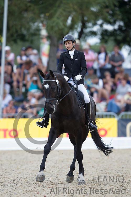 Adela Neumannova - Babylon van Lange Weeren<br /> FEI World Breeding Dressage Championships for Young Horses 2012<br /> © DigiShots