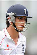 Alastair Cook after getting out on the final day day of the fourth Test at the Oval on the 11th of August 2008..England v South Africa.Photo by Philip Brown.www.philipbrownphotos.com
