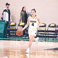4th year guard, Avery Pearce (4) of the Regina Cougars <br /> during the Women's Basketball Home Game on Fri Nov 02 at Centre for Kinesiology,Health and Sport. Credit: Arthur Ward/Arthur Images