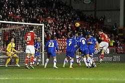 Bristol City's Matt Smith scores a goal to make it 1-0 - Photo mandatory by-line: Dougie Allward/JMP - Mobile: 07966 386802 - 29/01/2015 - SPORT - Football - Bristol - Ashton Gate - Bristol City v Gillingham - Johnstone Paint Trophy