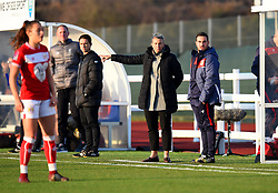 Tanya Oxtoby manager of Bristol City Women gives instructions from the touch line - Mandatory by-line: Paul Knight/JMP - 17/11/2018 - FOOTBALL - Stoke Gifford Stadium - Bristol, England - Bristol City Women v Liverpool Women - FA Women's Super League 1
