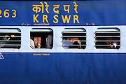 train at railway station, mumbai, india
