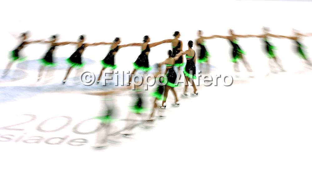 &copy; Filippo Alfero<br /> Torino, 21-01-2007<br /> Sport, Pattinaggio di Figura<br /> Universiadi Invernali Torino 2007 - Pattinaggio di Figura  - Sincronizzato<br /> nella foto: squadra Canada<br /> <br /> &copy; Filippo Alfero<br /> Turin, Italy, 21-01-2007<br /> Winter Universiade Torino 2007 - Figure Skating - Synchronized<br /> in the photo: Team Canada