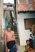 "Kids at favela Vila Parque da Cidade in Rio de Janeiro, Brazil. Reminiscent of the movie ""City of God""!"