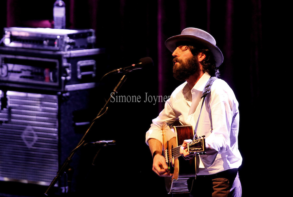Ray Lamontagne and The Pariah Dogs perform live at the Royal Festival Hall on February 21, 2011 in London, England.  (Photo by Simone Joyner)