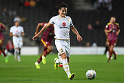 Milton Keynes Dons defender George Williams (2) sprints forward with the ball during the EFL Sky Bet League 1 match between Milton Keynes Dons and Ipswich Town at stadium:mk, Milton Keynes, England on 17 September 2019.