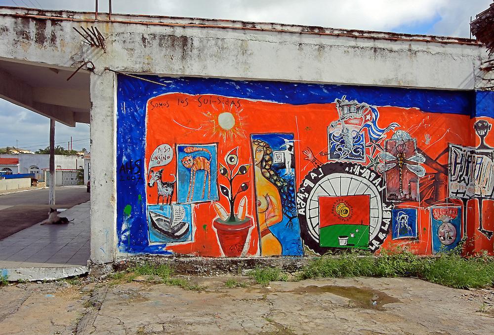 Mural in Santa Cruz del Norte, Mayabeque, Cuba.