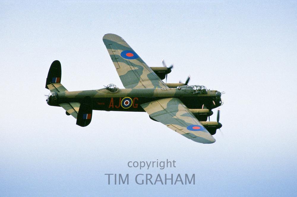 Lancaster Bomber plane, England, United Kingdom.