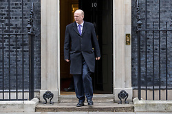 © Licensed to London News Pictures. 29/01/2019. London, UK. Transport Secretary Chris Grayling leaves 10 Downing Street after the Cabinet meeting, as Brexit negotiations continue. MPs will vote on a series of amendments this evening. Photo credit: Rob Pinney/LNP