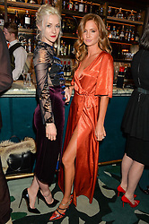 Left to right, PORTIA FREEMAN and MILLIE MACKINTOSH at a dinner hosted by Creme de la Mer to celebrate the launch of Genaissance de la Mer The Serum Essence held at Sexy Fish, Berkeley Square, London on 21st January 2016.