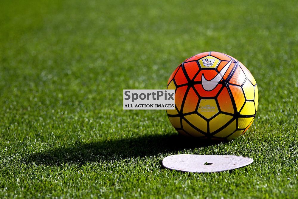 The Nike Ordem Hi-vis ball of the 2015/16 season before Bournemouth vs Tottenham Hotspur on Sunday 25th of October 2015.