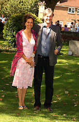 The MARQUESS & MARCHIONESS OF WORCESTER she was actress Tracey Ward at the wedding of musician Jools Holland to Lady Crystabel Durham held at Cooling Village Church, Cooling, Kent on 30th August 2005.<br /><br />NON EXCLUSIVE - WORLD RIGHTS