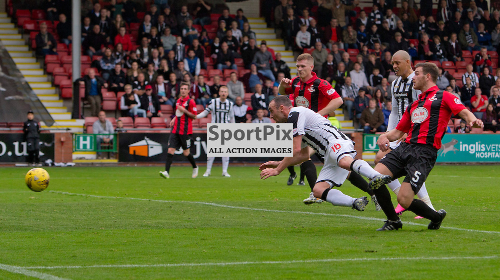 Dunfermline Athletic v Airdrieonians SPFL League One Season 2015/16 East End Park 26 September 2015<br /> Michael Moffat scores <br /> CRAIG BROWN | sportPix.org.uk