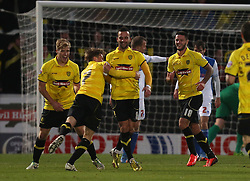 Burton Albion's Robbie Weir celebrates his goal- Photo mandatory by-line: Matt Bunn/JMP - Tel: Mobile: 07966 386802 23/11/2013 - SPORT - Football - Burton - Pirelli Stadium - Burton Albion v Bristol Rovers - Sky Bet League Two