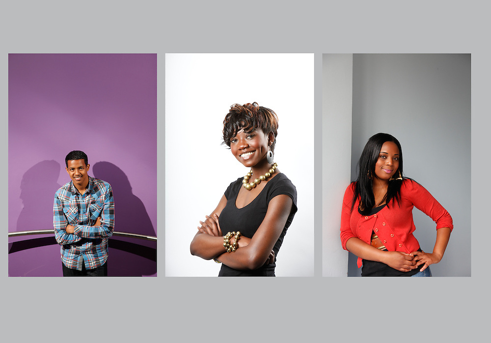 Student portraits for the West London College Prospectus.