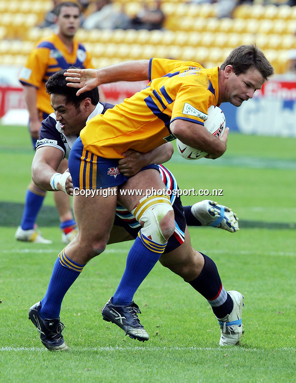 Steve Buckingham of Mt Albert in action during the Barter Card Cup Rugby League game between Mt Albert and Otahuhu/Ellerslie at Ericsson Stadium, Auckland on Sunday 1 May, 2005. Photo: Andrew Cornaga/PHOTOSPORT<br />