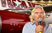 Sir Richard Branson appears as Virgin America launches JFK-Las Vegas Service with 'Entourage' Airbus A320 at JFK Airport in New York City in New York City, USA on September 4, 2008.