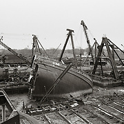 Scrapped Stern of J.J. Kelly, 1987