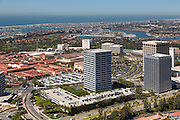 Fashion Island Newport Beach California Aerial Stock Photo