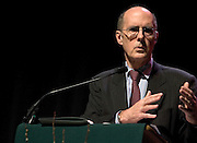 Strobe Talbott, president of The Brookings Institution, delivers the keynote address for Ohio University's Baker Peace Conference on Thursday evening, 3/29/07, at Templeton Blackburn Alumni Memorial Auditorium. The conference continues all day Friday.
