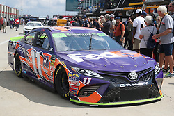 September 29, 2018 - Charlotte, NC, U.S. - CHARLOTTE, NC - SEPTEMBER 29: #11: Denny Hamlin, Joe Gibbs Racing, Toyota Camry FedEx Freight leaving the garages during the Monster Energy NASCAR Cup Series Playoff Race Bank of America ROVAL 400 on September 29, 2018, at Charlotte Motor Speedway in Concord, NC. (Photo by Jaylynn Nash/Icon Sportswire) (Credit Image: © Jaylynn Nash/Icon SMI via ZUMA Press)