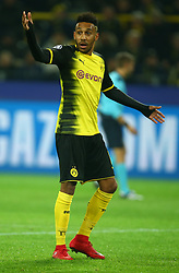 November 21, 2017 - Dortmund, Germany - Pierre-Emerick Aubameyang of Borussia Dortmund. during UEFA Champion  League Group H Borussia Dortmund between Tottenham Hotspur played at Westfalenstadion, Dortmund, Germany 21 Nov 2017  (Credit Image: © Kieran Galvin/NurPhoto via ZUMA Press)