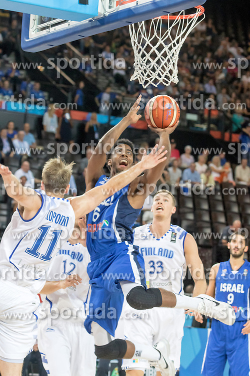 06.09.2015, Park Suites Arena, Montpellier, FRA, Finnland vs Israel, Gruppe A, im Bild SHAWN DAWSON (6) // during the FIBA Eurobasket 2015, group A match between Finland and Israel at the Park Suites Arena in Montpellier, France on 2015/09/06. EXPA Pictures &copy; 2015, PhotoCredit: EXPA/ Newspix/ Pawel Pietranik<br /> <br /> *****ATTENTION - for AUT, SLO, CRO, SRB, BIH, MAZ, TUR, SUI, SWE only*****