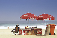 Coca-Cola vendor, Ipanema Beach, Rio de Janiero, Brazil.
