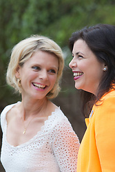 © Licensed to London News Pictures. 20/05/2013. London, England. Emilia Fox with Kirsty Allsopp. Celebrities at Press Day Monday of the RHS Chelsea Flower Show. Photo credit: Bettina Strenske/LNP