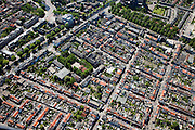 Nederland, Noord-Holland, Haarlem, 12-05-2009; Leidsebuurt, 19e-eeuwse arbeiderswijk met links de Leidsevaart .Swart collectie, luchtfoto (toeslag); Swart Collection, aerial photo (additional fee required).foto Siebe Swart / photo Siebe Swart