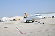 Israel, Ben-Gurion international Airport Private Jet on the Tarmac