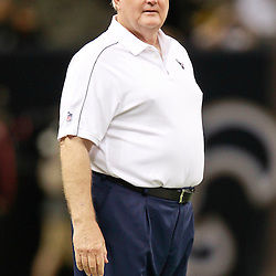 August 25, 2012; New Orleans, LA, USA; Houston Texans defensive coordinator Wade Phillips prior to kickoff of a preseason game against the New Orleans Saints at the Mercedes-Benz Superdome. Mandatory Credit: Derick E. Hingle-US PRESSWIRE