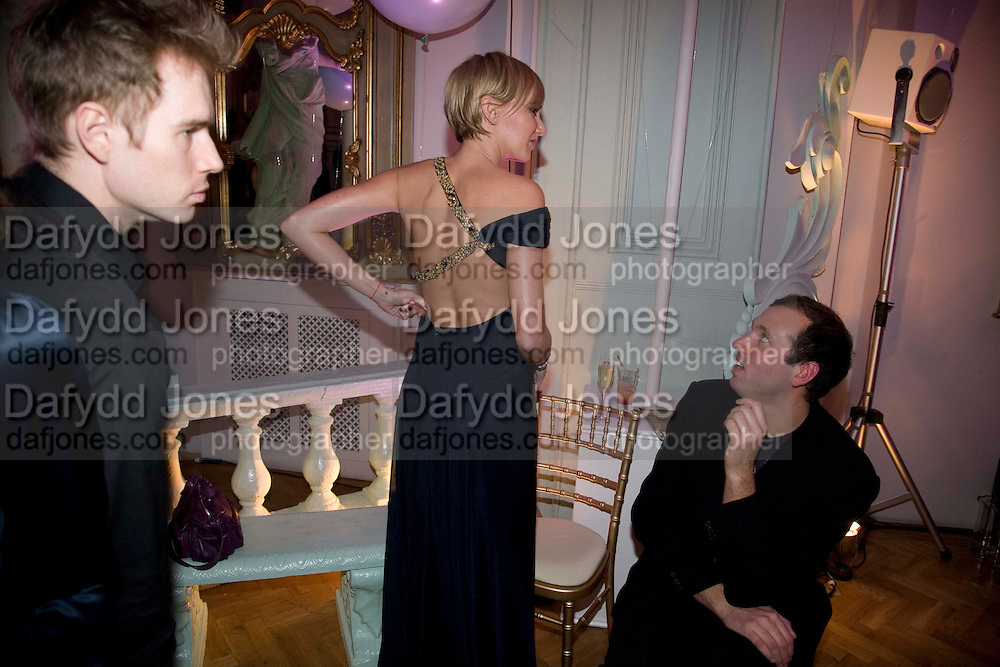 KIMBERLEY STEWART; DEAN GEISTLINGER, Vogue Fantastic  Fashion Fantasy Party in association with  Van Cleef and Arpels and to celebrate Vogue's secret address book. 1 Marylebone Rd. London. 3 November 2008 *** Local Caption *** -DO NOT ARCHIVE -Copyright Photograph by Dafydd Jones. 248 Clapham Rd. London SW9 0PZ. Tel 0207 820 0771. www.dafjones.com