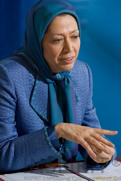 BRUSSELS - BELGIUM - 28 MAY 2008 -- Maryam RAJAVI, President-Elect of the National Council of Resistance of Iran.  Photo: Erik Luntang