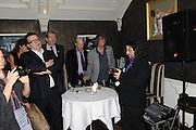 TOM WATSON; HOWARD MARKS; BERNIE KATZ, The 2011 Groucho Club Maverick Award. The Groucho Club. Soho, London. 14 November 2011. <br /> <br />  , -DO NOT ARCHIVE-© Copyright Photograph by Dafydd Jones. 248 Clapham Rd. London SW9 0PZ. Tel 0207 820 0771. www.dafjones.com.