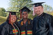18276Undergraduate Commencement 2007..Corie Richards, Dwayne Steward, Joshua Madden