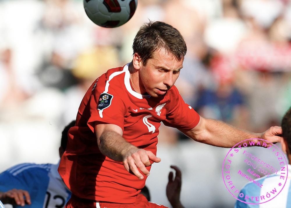 WARSZAWA 05/06/2011.FOOTBALL.INTERNATIONAL FRIENDLY.POLAND v ARGENTINA.JAKUB WAWRZYNIAK /POL/.PHOTO BY: PIOTR HAWALEJ / WROFOTO