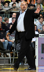 Head coach of Union Olimpija Aleksandar Dzikic during second semi-final match of Basketball NLB League at Final four tournament between KK Partizan Igokea, Beograd, Serbia and Union Olimpija, Ljubljana, Slovenia, on April 25, 2008, in Arena Tivoli in Ljubljana. Match was won by Partizan 94:90. (Photo by Vid Ponikvar / Sportal Images)